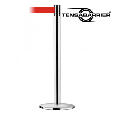 889 Tensabarrier Stanchion with Polished Chrome Finish